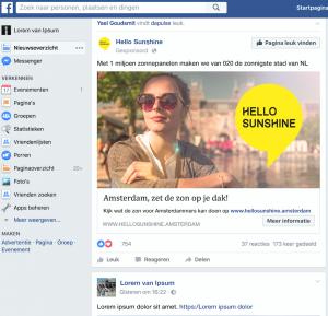 Hello Sunshine campagne Interim marketeer